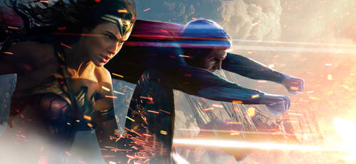 Wonder Woman and Superman Banner Textless HD by MessyPandas