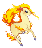 Pokemon:: Ponyta by CookieHana