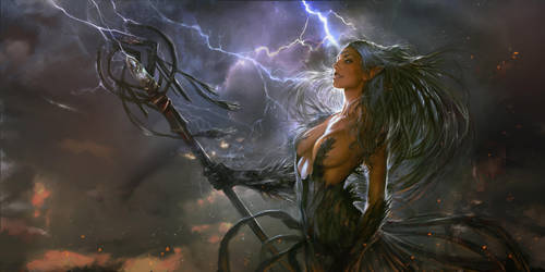 Storm Witch by PabloFernandezArtwrk