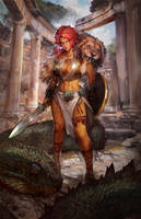 Greek warrior by PabloFernandezArtwrk