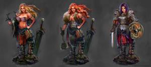 Barbarian-warrior concept art by PabloFernandezArtwrk