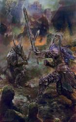 Dark Souls: Age of Fire by PabloFernandezArtwrk