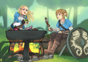 Taking a Breath in the Wild by Inktswish