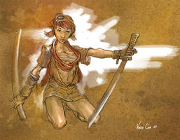 Warrior gal 2 by kidchuckle