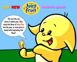 Juicy Fruit Bubble Gum ad (feat. Yellow Kacheek) by AlbinoFluttershy