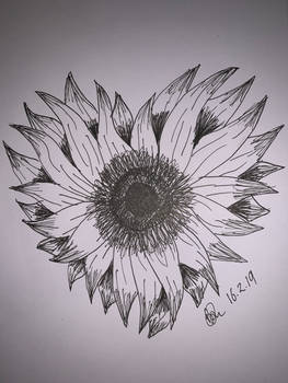 Sunflower heart by Brittanys-Creations