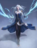 Ice Mage Shala Vry - Commission by kazekuro22