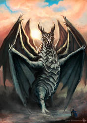 8 winged dragon by yuhime