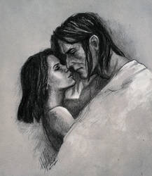 Loghain and Therawyn by yuhime