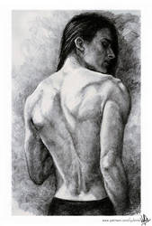 Back muscles study with Evarist by yuhime