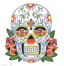 day of the dead skull by HeathersVisualDesign