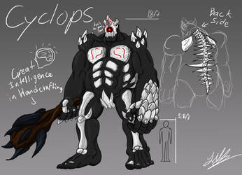 RWBY GRIMM OC(Original Creature)- The Cyclops by dragokaiju2000
