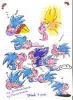 .:Sonamy -Chibi Doodle-:. by PhoenixSAlover