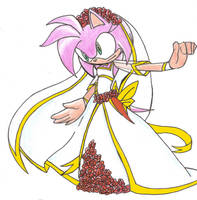 .:Wedding Dress_Amy Rose:. by PhoenixSAlover