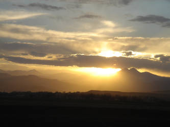 Long's Peak, Spring Sunset by Crynolyn