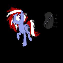 Commission: Pegasus OC with Bass Guitar head CM by Pustulioooooo