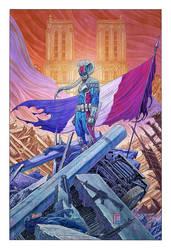 Le Garde Rpublicain Illustration by Toni-Fejzula