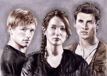 The Hunger Games (Main Cast) by dbrytpurl09