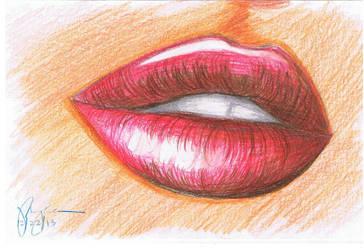 Lips by mediocreart-er