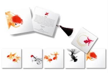 goldfish coasters by kenglye
