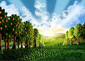 orange tree by kenglye
