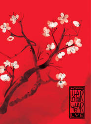 plum blossom by kenglye