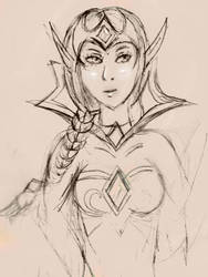 blood queen lana'thel sketch II by maiev-windrunner
