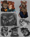 A Page of Rats by Skidar