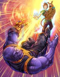 Shaggy Vs Thanos by Kuzomari
