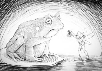 Frog + elf by margieeee