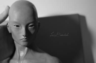 Work in progress, Murakami's head by La-Bambola