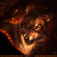 Confrontation - Werewolf Calendar by Lhuin