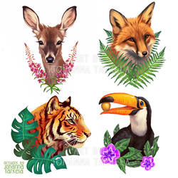Sticker designs by Lhuin