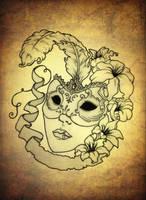 Venetian Mask by blacksilence92
