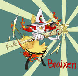 Chariot the Braixen by Sims76
