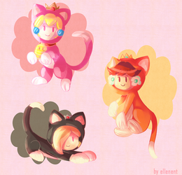 Cat princesses! by ellenent