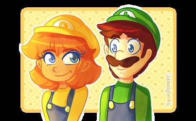 Daisy and Luigi! by ellenent
