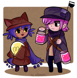 Commission - Niko and Lamplighter WWS by ellenent