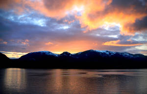March Sunset by Muskeg