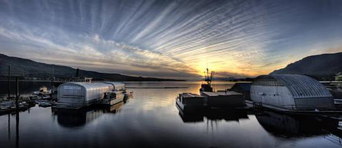 Sunset Over Murphy's Landing by Muskeg