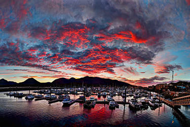 Red Sky at Night by Muskeg