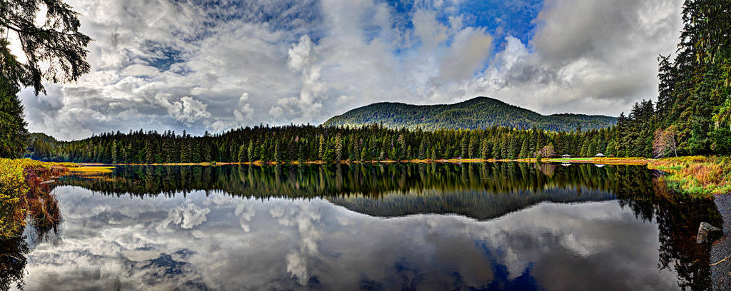 Ward Lake Panorama by Muskeg