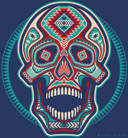 Aztec Skull by Dana-Ulama
