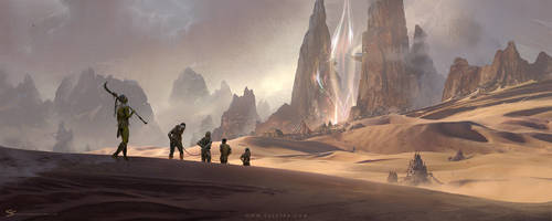 Khalon city and the great portal by simonfetscher