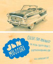Custom Classic Car Portraits by JenMussari