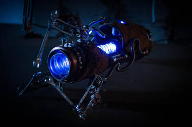 Steampunk Portal Gun - Blue by case15
