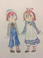 Raggedy Ann and Andy in Rag Dolly by katiemae12