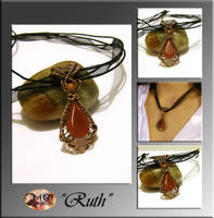 Ruth- wire wrapped pendant by mea00