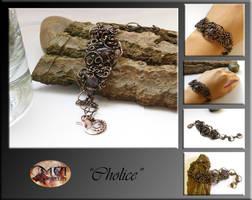 Cholice- wire wrapped bracelet by mea00