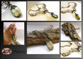 Ninurta- wire wrapped necklace by mea00